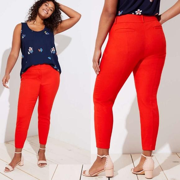 7a01abd688a NWT Loft Plus Skinny Ankle Pants Ember Orange